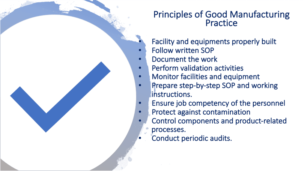 GXP - Good manufacturing practice